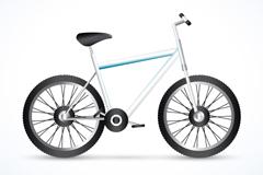 时尚蓝色单车矢量素材
