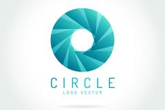 创意圆环标志矢量素材