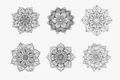 9款手绘花纹矢量素材