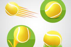 4款精美网球设计元素矢量素材