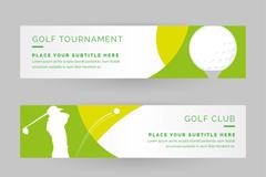 3款高尔夫球banner矢量素材