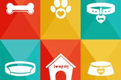6款宠物用品图标矢量素材