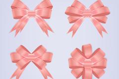 4款粉色蝴蝶结矢量素材