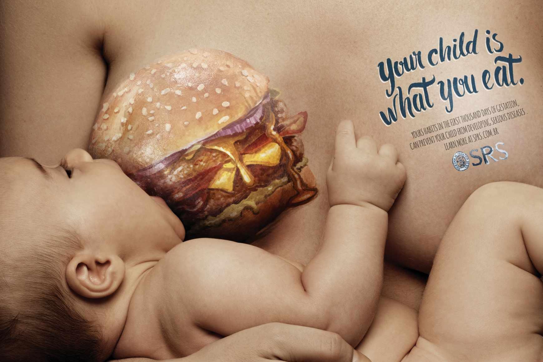 汉堡、可乐那么美味,带你的baby一起吃吧!