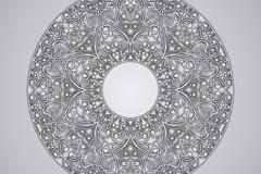 质感花纹圆环矢量素材