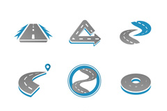 9款创意公路图标矢量素材