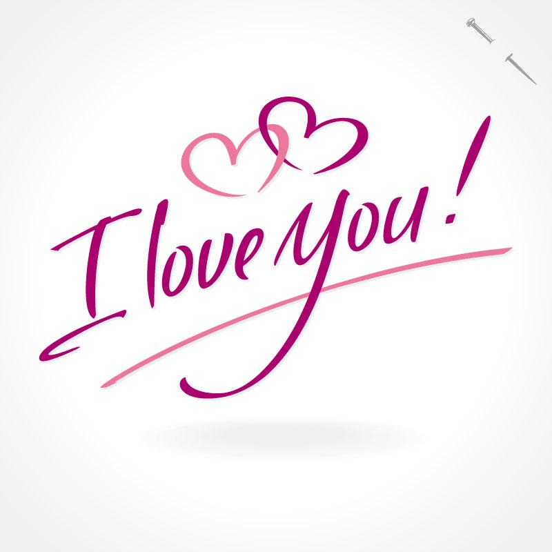 eps格式,含jpg预览图,关键字:别针,我爱你,艺术字,爱心,爱,i love you图片