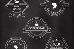 5款创意餐饮标签矢量素材