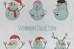6款可爱雪人矢量素材