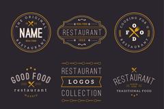 9款餐厅标志设计矢量图