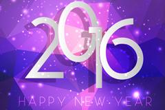 2016年紫色新年贺卡矢量素材