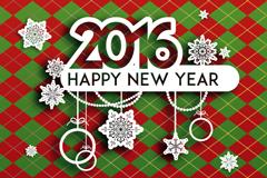 2016年精美新年贺卡矢量素材