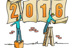 创意2016年年历矢量素材
