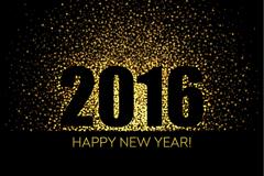 2016年新年快乐光晕贺卡矢量图