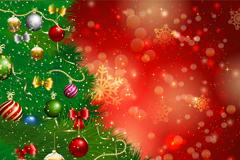 圣诞树光晕背景矢量素材