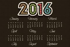 简约2016年年历设计矢量素材