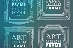 4款创意花纹框架矢量素材