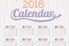 2016年素雅猴年年历设计矢量素材