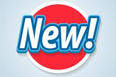 圆形NEW新品标签矢量素材