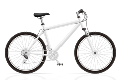 时尚白色单车设计矢量图
