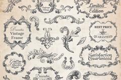 23款复古欧式花纹框矢量素材