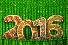 2016年创意针织饼干字贺卡矢量素材