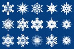 21款雪花PSD素材