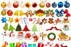 90个圣诞节元素集合PSD优发娱乐