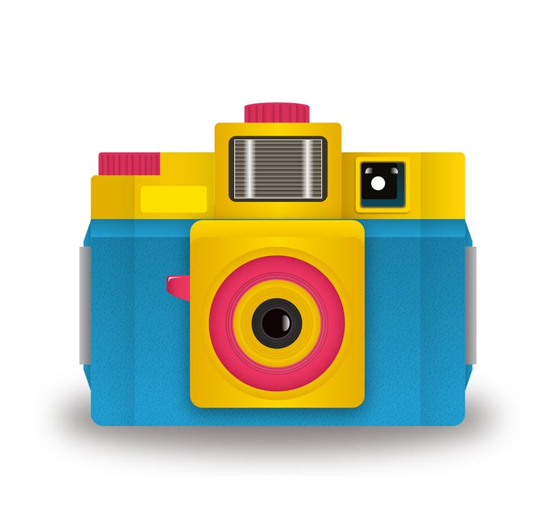 卡通彩色照相机矢量素材
