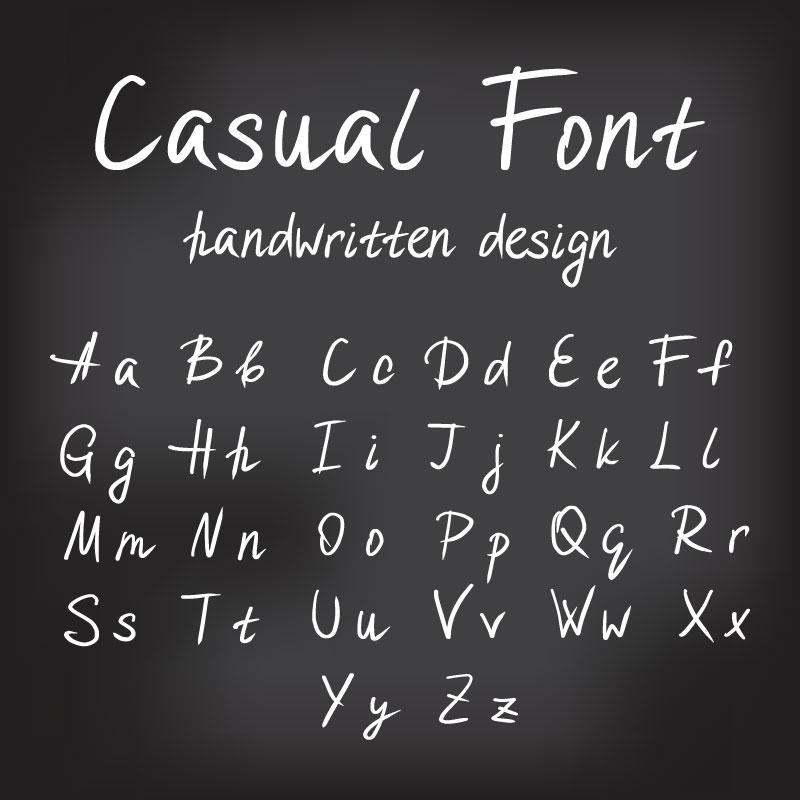 26个手绘大小写字母矢量素材