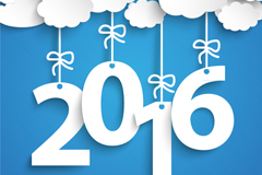 2016云朵挂饰矢量素材