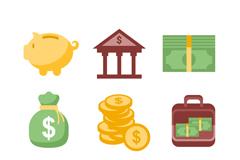 9款精美金融图标矢量素材