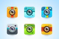 9款彩色摄影app图标矢量素材