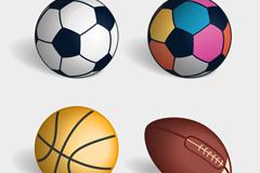 4款精美球类矢量素材