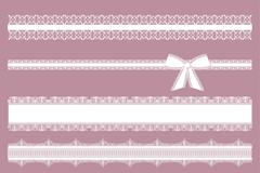 6款白色蕾丝花边矢量素材