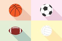 6款精致球类图标矢量素材