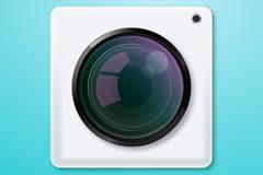 精致白色摄影app图标矢量图