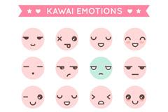 16款可爱圆脸表情矢量素材