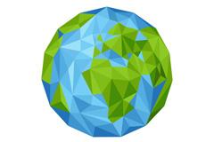 抽象蓝色地球矢量素材