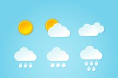 9款精美天气图标矢量素材