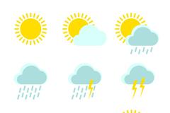 9款清新天气图标矢量素材