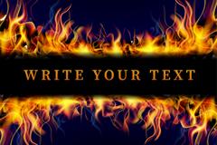 燃烧的火焰banner矢量素材