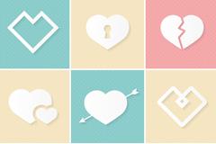9款白色爱心图标矢量素材