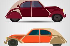 2款复古车辆设计矢量素材