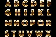 30个金属字母和符号矢量素材
