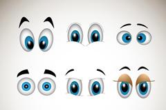 9款卡通眼睛设计矢量素材