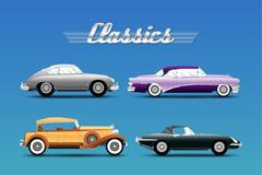 6款复古汽车设计矢量素材