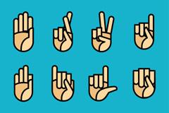 8款创意手势图标矢量素材