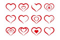 16款创意爱心图标矢量素材