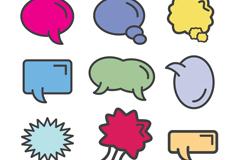 9款卡通风格语言气泡矢量图